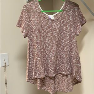Size M, Salmon high-front top